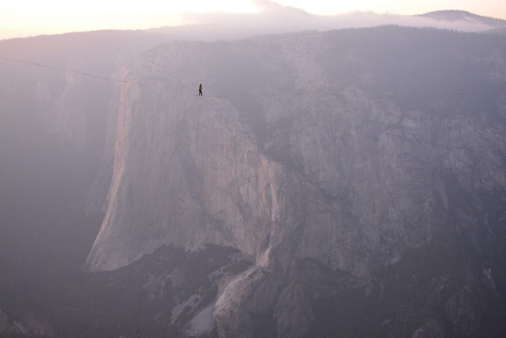 slackline highline friedi kühne free solo world record taft point