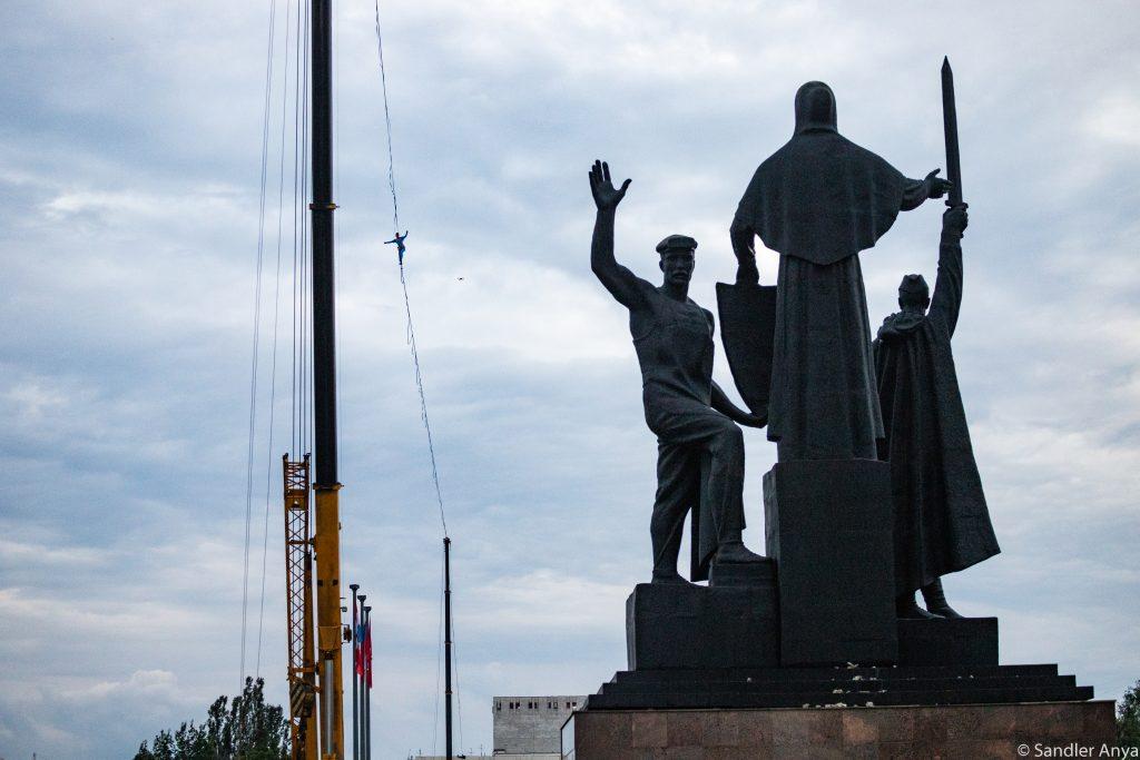 slackline highline friedi kühne perm russland