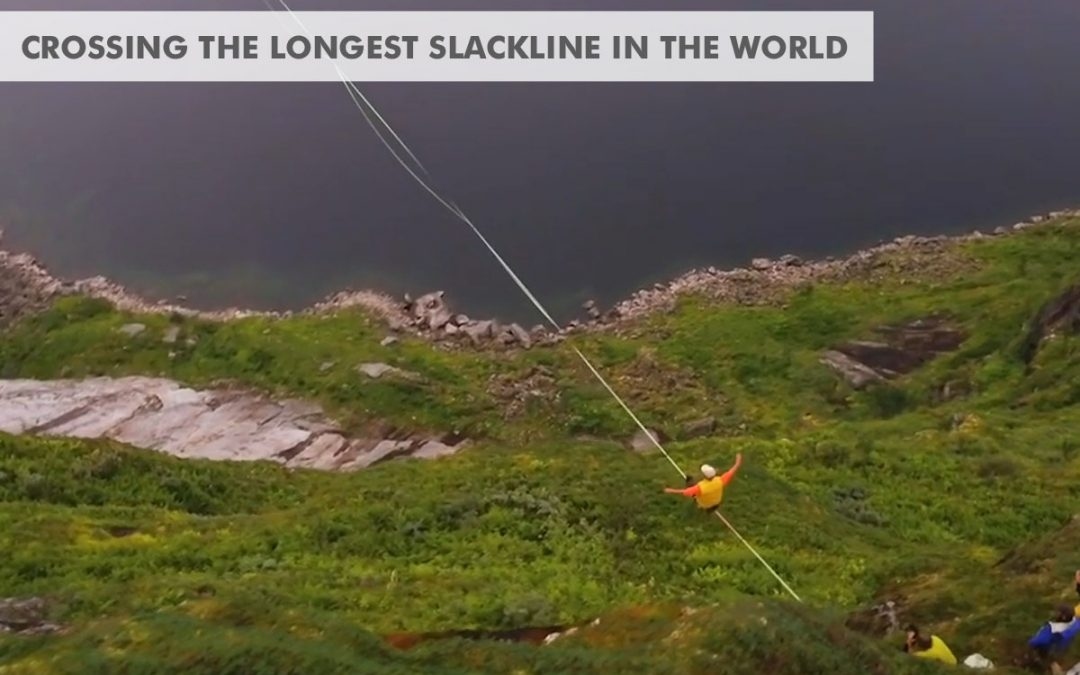 August 2018: 2.8km – A crossing of the longest Slackline ever set up