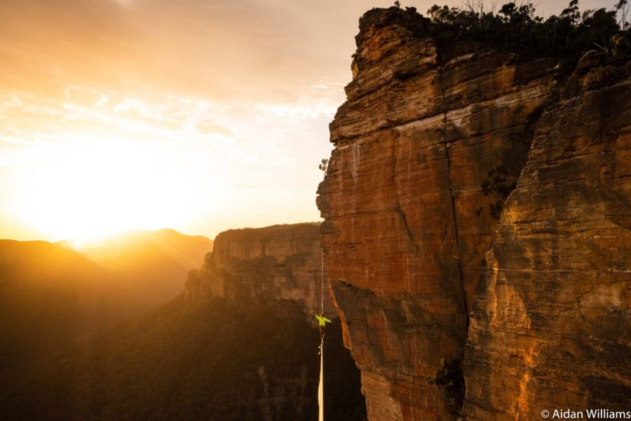 slackline highline friedi kühne australia australien aidan williams