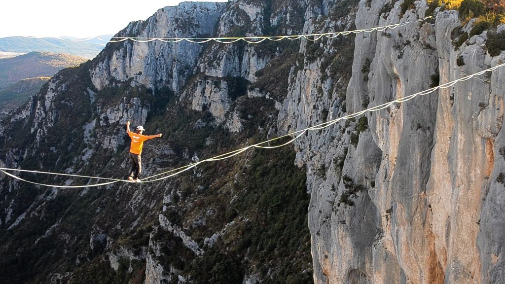 slackline highline friedi kühne free solo weltrekord world record verdon