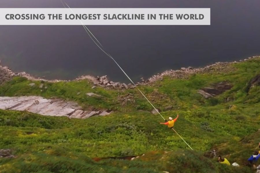 slackline highline friedi kühne longest in the world 2.8km